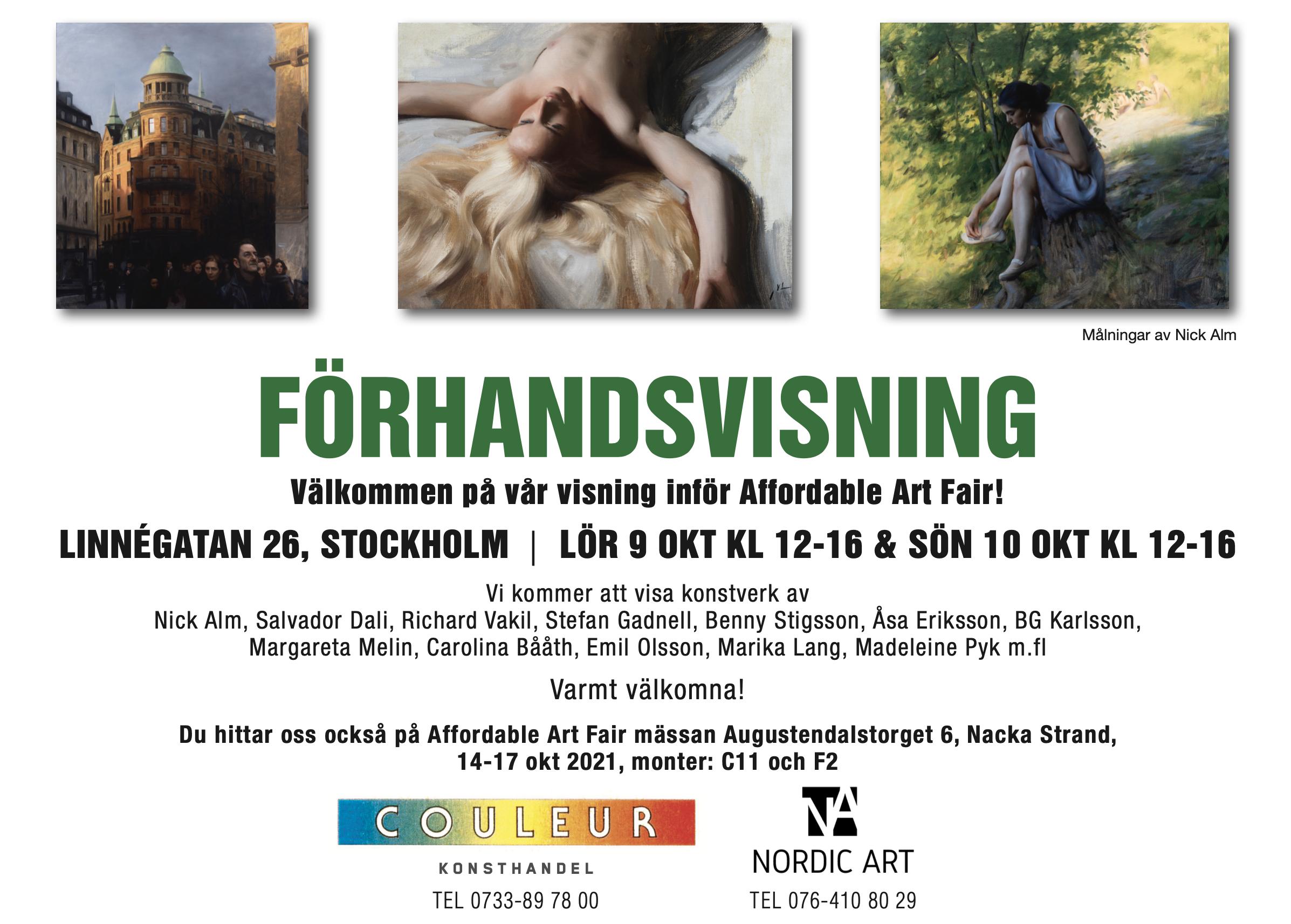 Förhandsvisning inför Affordable Art Fair