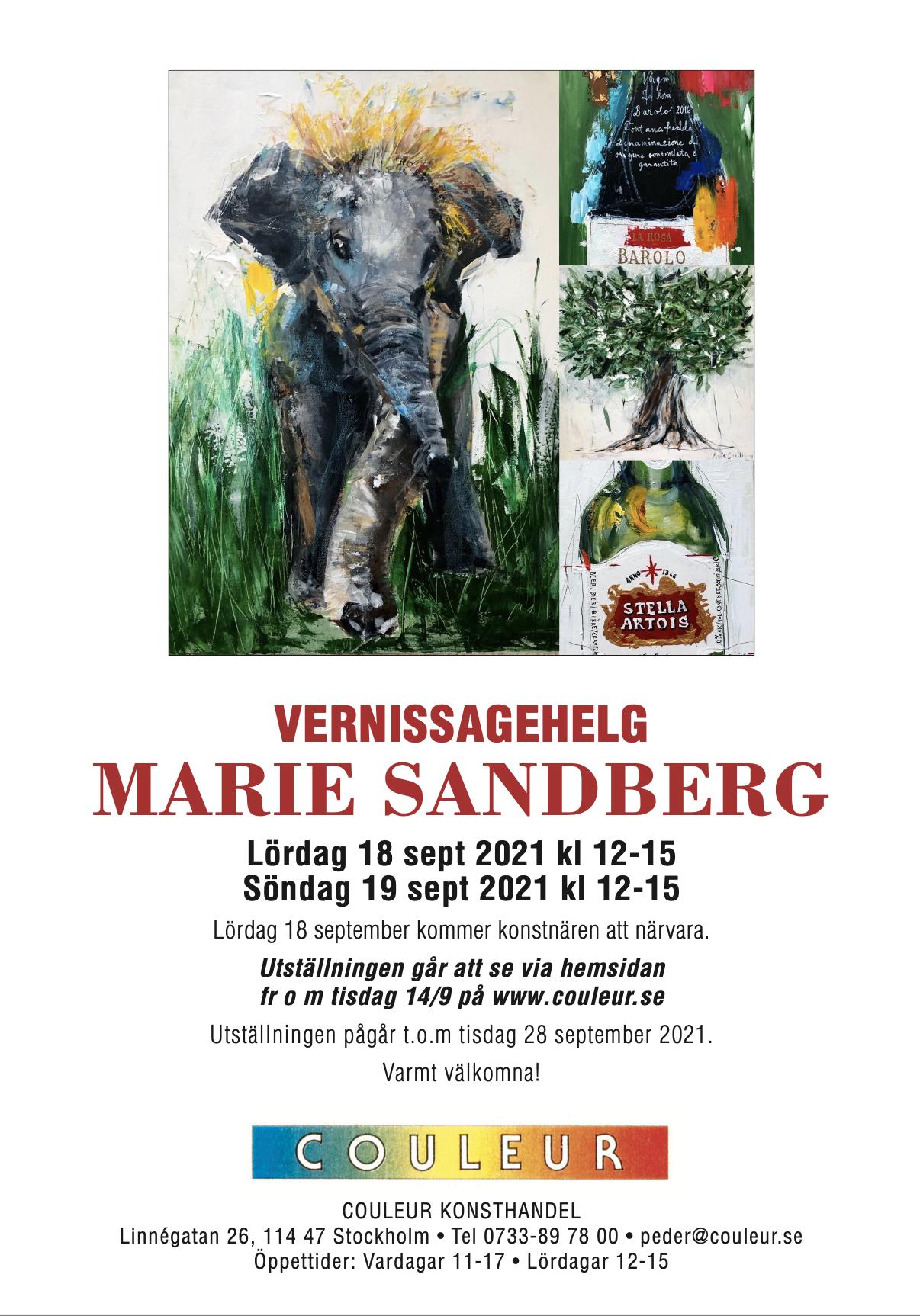 Vernissagehelg Marie Sandberg